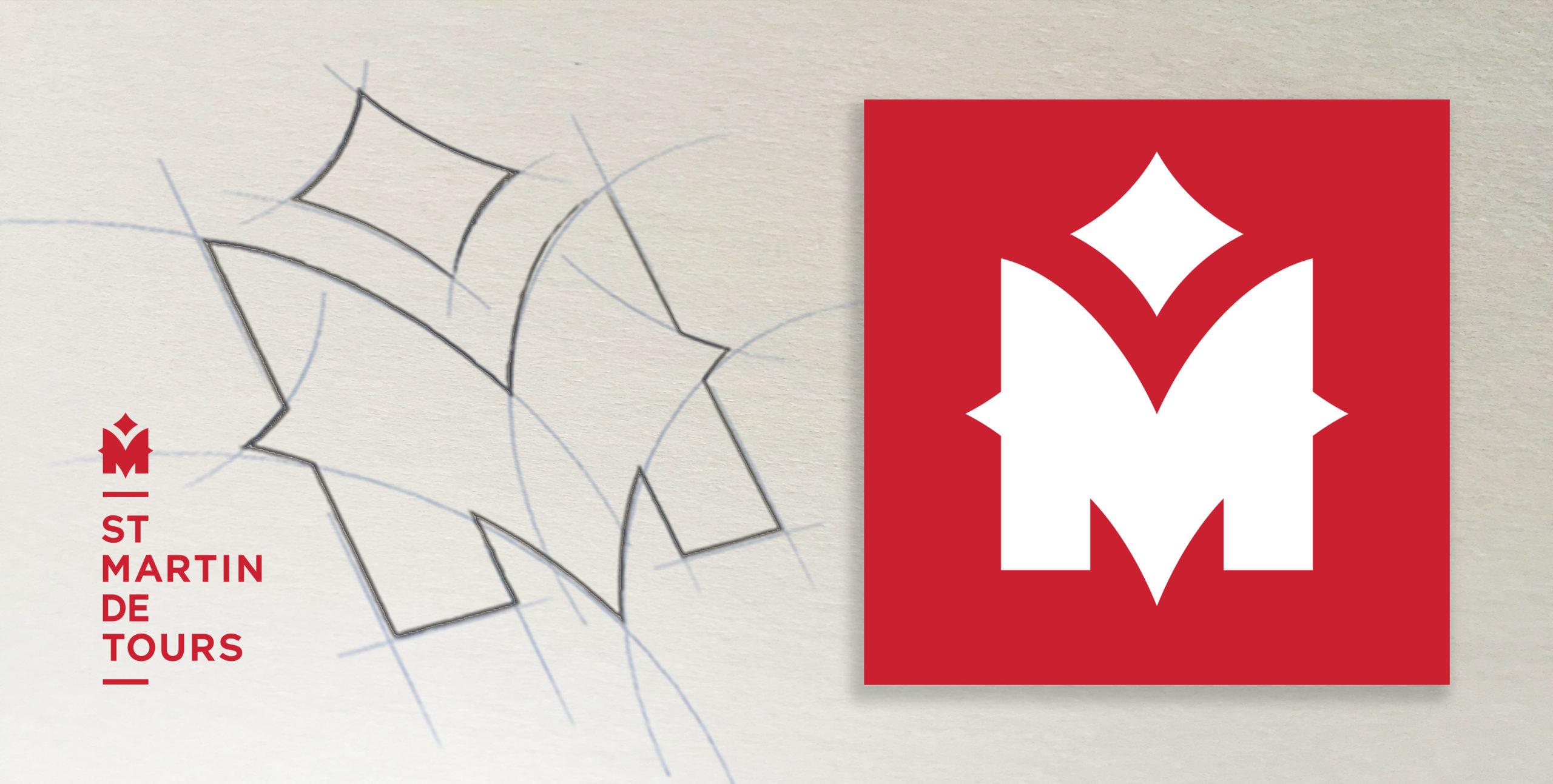 Création de logo St Martin de Tours VIKIÜ Design