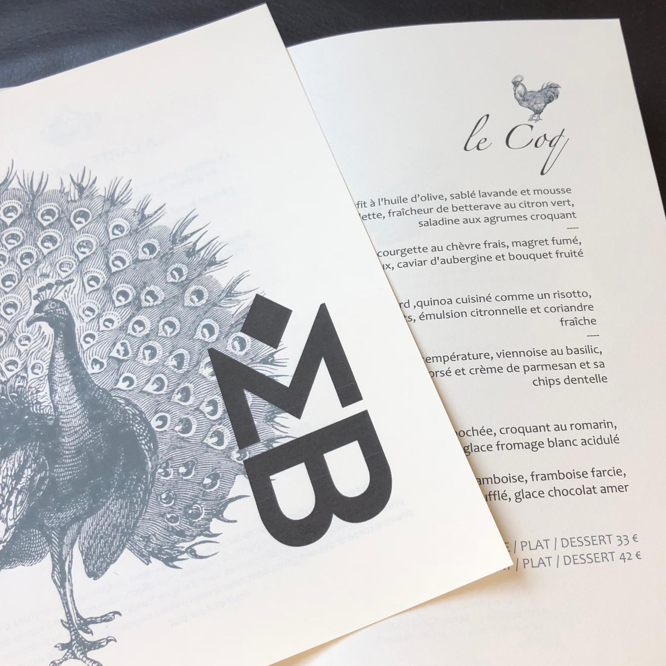 maison bouquet vikiu design logo mb menu coq