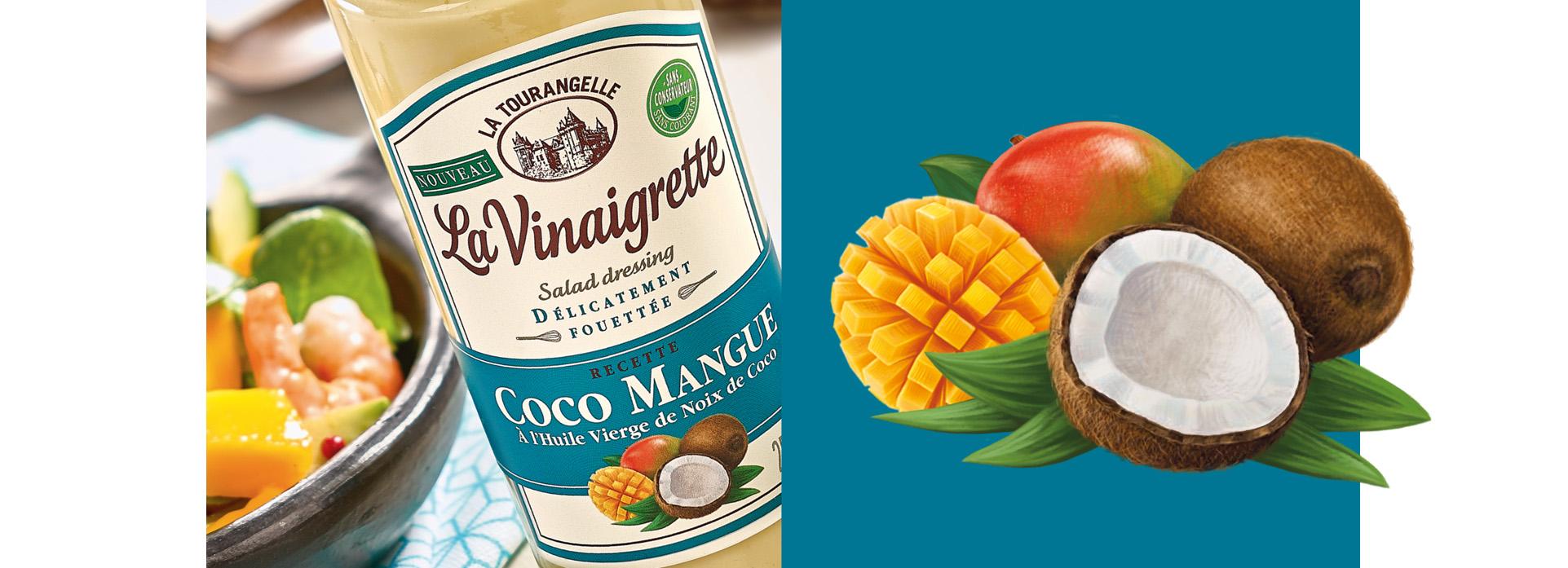 mangue coco Vinaigrette packaging la tourangelle VIKIU